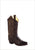 Old West Brown Canyon Childrens Boys Leather Snip Toe 8in Cowboy Boots