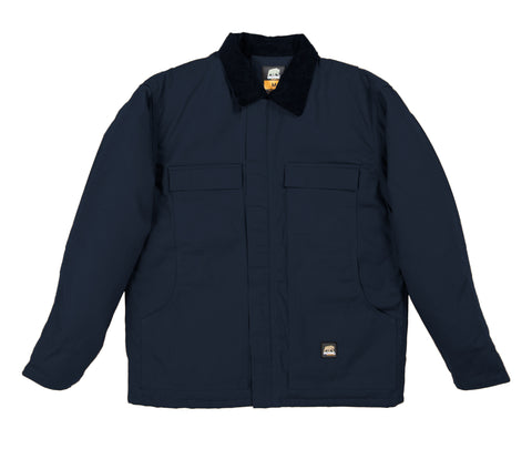 Berne Mens Navy Cotton Blend Chore Coat Twill