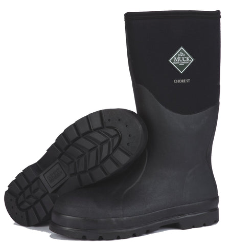 Muck Chore Met Guard Work Unisex Black Foam Boots Waterproof
