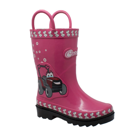 Case IH Kids Girls Pink Rubber Work Boots