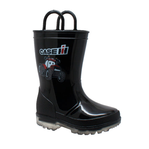 Case IH Kids Boys Black PVC Work Boots