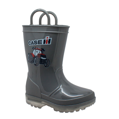 Case IH Kids Boys Grey PVC Work Boots