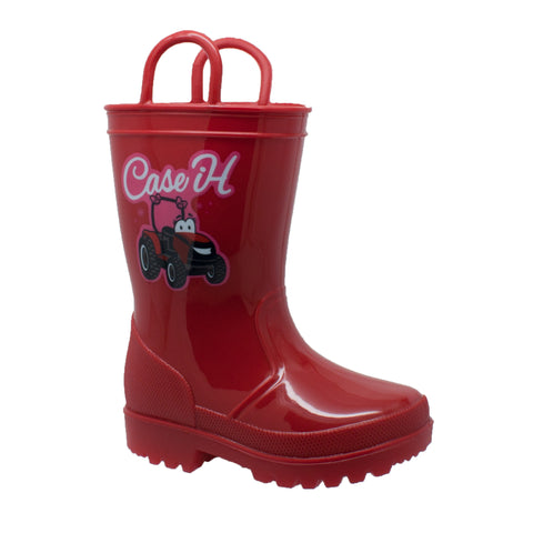 Case IH Kids Girls Red PVC Work Boots