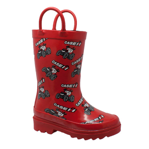 Case IH Toddler Boys Red Rubber Work Boots