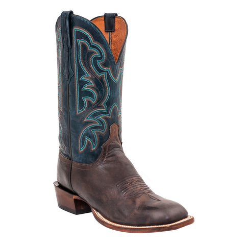 Lucchese Mens Cowboy Boots Pearwood Goat Leather