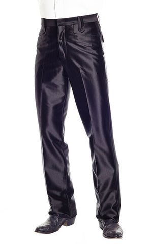 Circle S Mens Black Polyester Western Swedish Knit Ranch Dress Pant