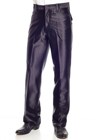 Circle S Mens Black 100% Polyester Swedish Knit Snap Ranch Dress Pant