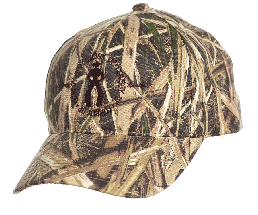bccad5bc39e Cowboy Up Mens Camo Cotton Baseball Cap Hunting – The Western Company