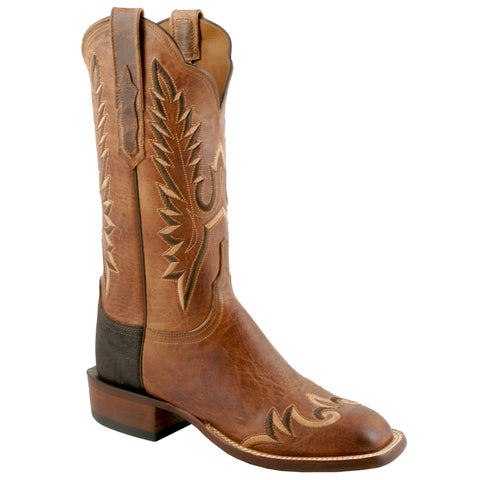 Lucchese Womens Cowboy Boots Tan Goat Leather