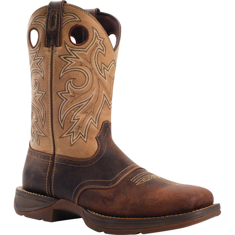 Saddle Up Rebel by Durango Mens Brown Leather Square Toe Cowboy Boots