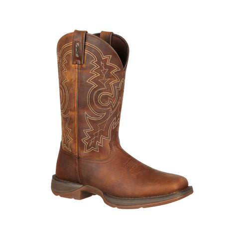 Rebel by Durango Mens Brown Leather 12in Western Cowboy Boots