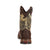 Lil Durango Big Kids Brown/Camo Leather Saddle Western Cowboy Boots