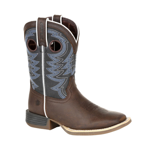 Lil Durango Little Kids Brown/Blue Leather Rebel Pro Cowboy Boots