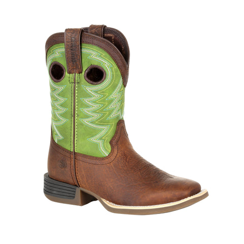 Lil Durango Little Kids Frontier/Lime Leather Rebel Pro Cowboy Boots