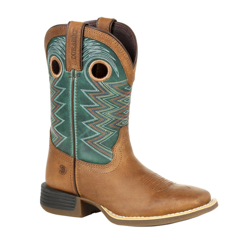 Durango Youth Wheat/Tidal Teal Leather Lil Rebel Pro Cowboy Boots