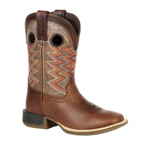 Durango Kids Tigers Eye Leather Lil Rebel Pro Cowboy Boots
