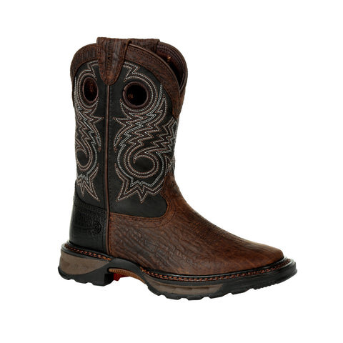 Durango Kids Dk Bay/Burnt Orange Leather Lil Maverick XP Cowboy Boots