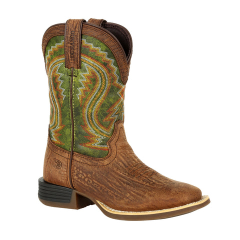 Durango Kids Old Town/Briar Green Leather Lil Rebel Pro Cowboy Boots