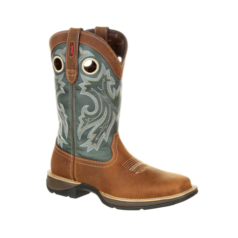 Durango Mens Clover/Saddle Leather Rebel PullOn Cowboy Boots