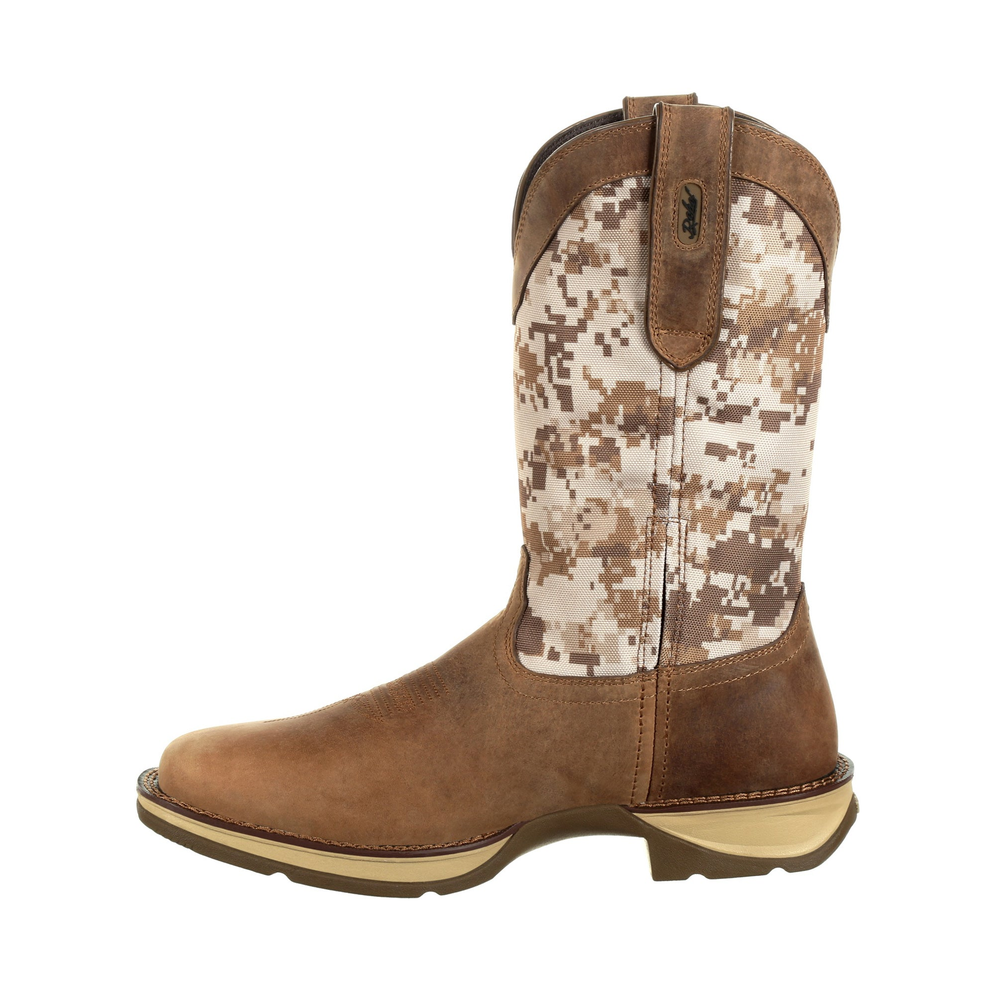 327f2217bf2 Durango Mens Dusty/Camo Leather Pull-On Rebel Cowboy Boots – The ...