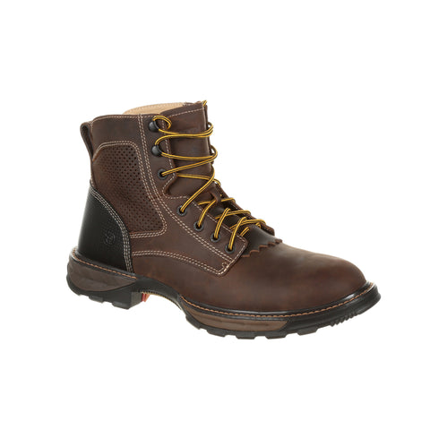 Durango Mens Oiled Brown Leather Maverick ST Work Boots
