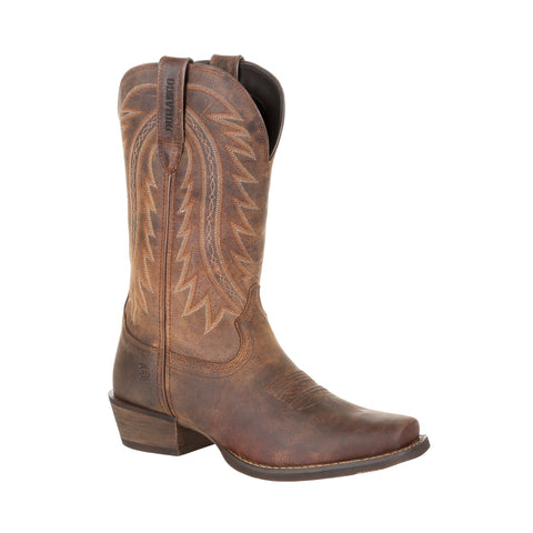 Durango Mens Sunset Brown Leather Frontier Blunt Cowboy Boots