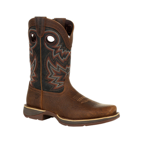 Durango Mens Chocolate/Eclipse Leather Rebel Western Cowboy Boots
