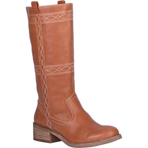 Dingo Womens Longhorn Cowboy Boots Leather Cognac