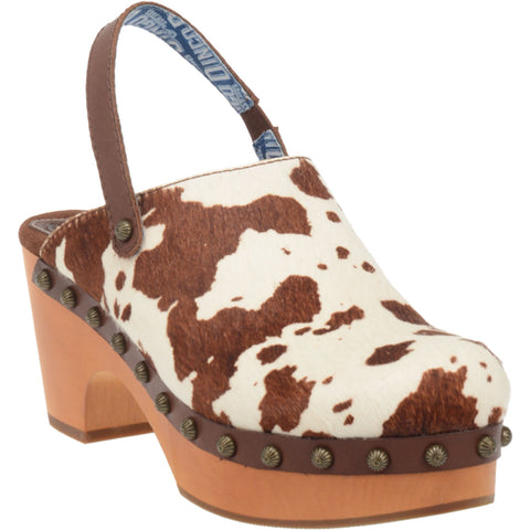 Dingo Womens Brown Buttercup Cowhide Mule Shoes Leather