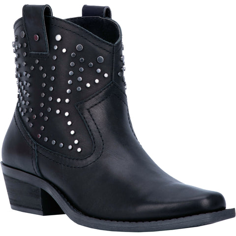 Dingo Womens Black Fashion Boots Leather Snoot Toe
