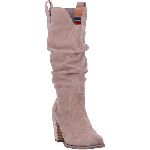 Dingo Womens Taupe Fashion Boots Leather Fashion Round Toe