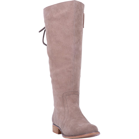 Dingo Womens Taupe Fashion Boots Leather Round Toe