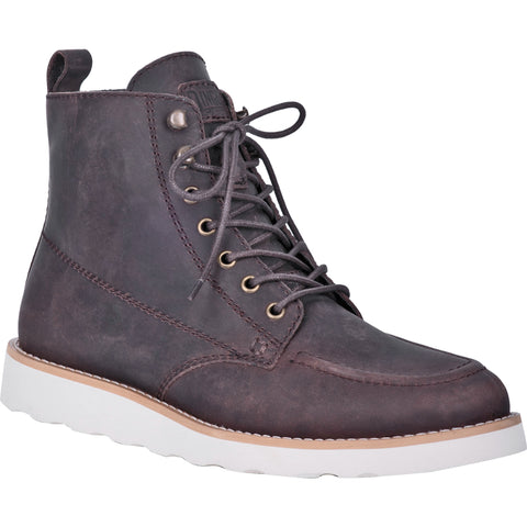 Dingo Mens Harpo Ankle Boots Leather Brown
