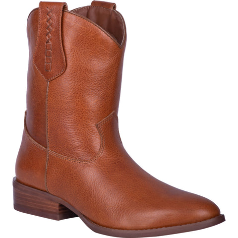 Dingo Mens Camel Lefty 9in Shorty Cowboy Boots Leather