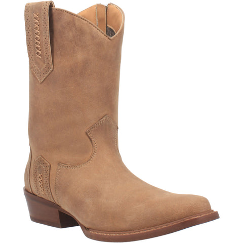 Dingo Mens Cassidy Cowboy Boots Leather Taupe