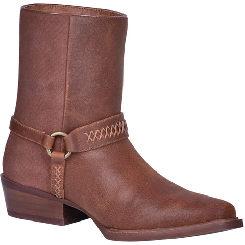 Dingo Mens Butch Cowboy Boots Leather Rust