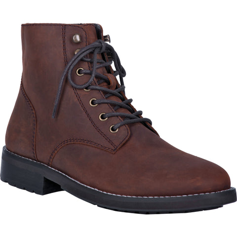 Dingo Mens Huck Ankle Boots Leather Brown