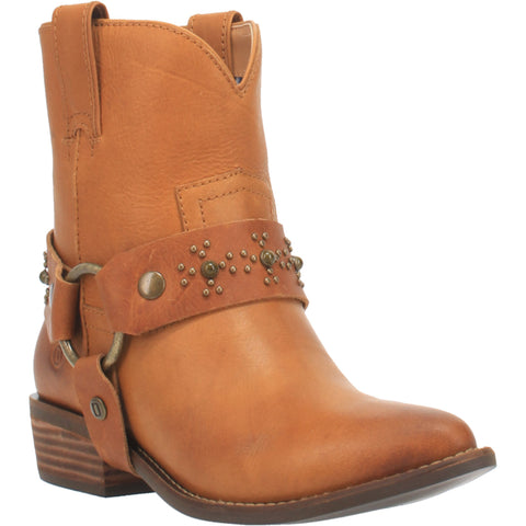 Dingo Womens Camel Silverada Harness Ankle Boots Leather