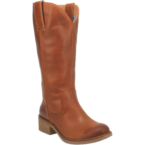 Dingo Womens Tan Homestead 13in Cowboy Boots Leather