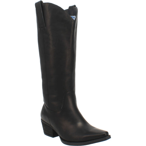 Dingo Womens Black Bonanza 14in Cowboy Boots Leather