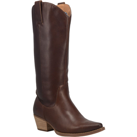 Dingo Womens Brown Bonanza 14in Cowboy Boots Leather