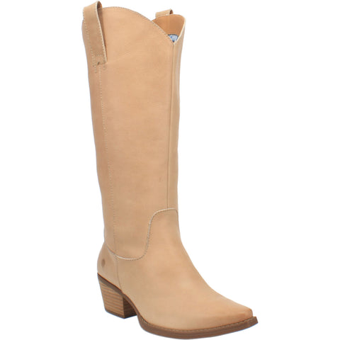 Dingo Womens Sand Bonanza 14in Cowboy Boots Leather