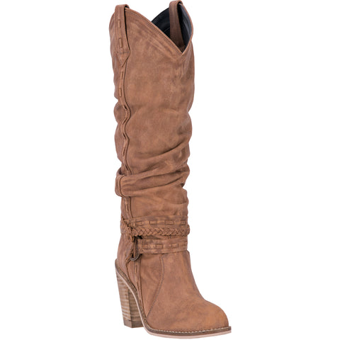 Dingo Womens Tan Morgan 14in Fashion Leather Cowboy Boots