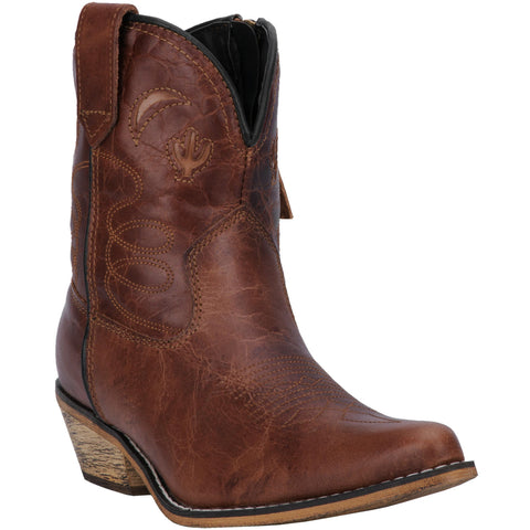 Dingo Womens Brown Adobe Rose 7in Cactus Fashion Boots Leather