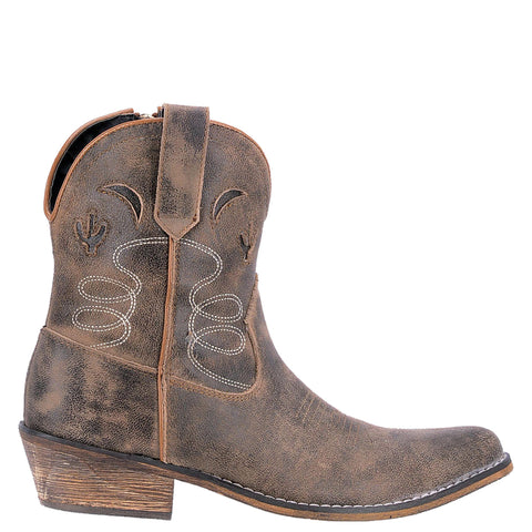 Dingo Womens Taupe Adobe Rose 7in Cactus Fashion Boots Leather