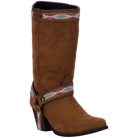 Dingo Womens Rust Martine Southwestern Leather Cowboy Boots 11in