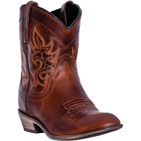 Dingo Womens Brown Willie Leather Cowboy Boots Low Western