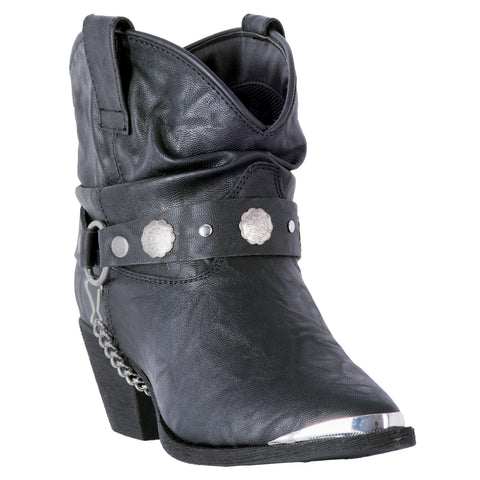 Dingo Womens Black Fiona Cowboy Boots Faux Leather