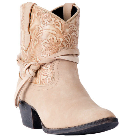 Dingo Womens Tan Valerie Tooled Cowboy Boots Faux Leather