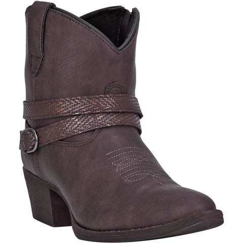 Dingo Womens Chocolate Aydra Harness Cowboy Boots Faux Leather